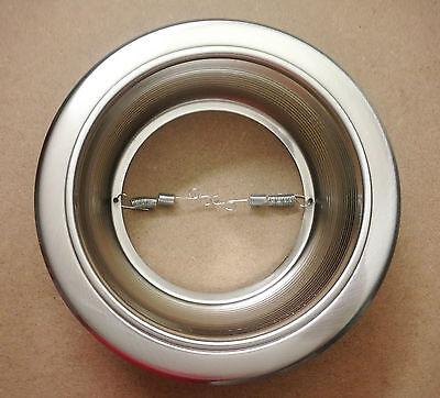6 Inch Recessed Can Light Step Trim Baffle Silver Satin Nickel R40 Par38