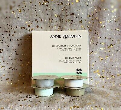 ANNE SEMONIN Paris~The Daily Musts Masks~The Essentials~4x/0.35oz~NIB~Ships Free