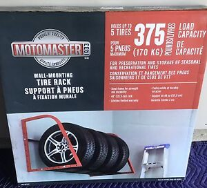 Tire storage rack - hold 5 tires - heavy duty