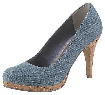 Tamaris High-Heel-Pumps in trendiger Jeans-Optik Gr.37