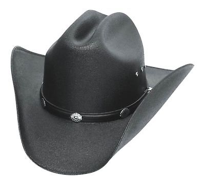 Western Express Classic Cattleman Straw Cowboy Hat with Silver Conchos L/XL