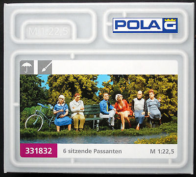 331832 Pola G Sitzende Figuren 6 Stück handbemalt 1:24 1:22,5  neu 2016