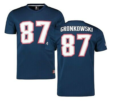 SMALL Mens NEW ENGLAND PATRIOTS Mesh NFL T Shirt Majestic Jersey GRONKOWKSI