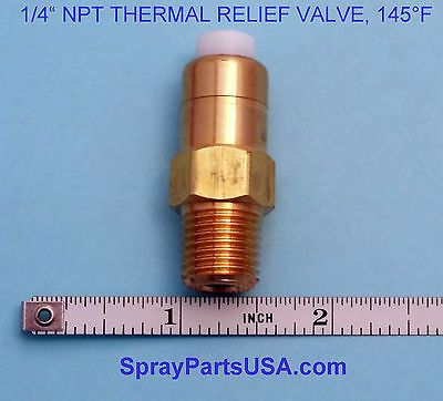 """1/4"""" NPT THERMAL RELIEF VALVE FOR PRESSURE WASHERS, 145°F"""