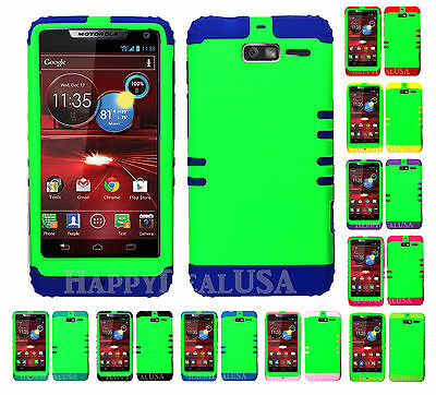 KoolKase Hybrid Cover Case for Motorola Droid Razr M XT907 - Lime Green (FL) Lime Green Razr