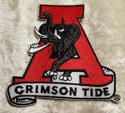 Alabama Crimson Tide Elephant (Alabama Crimson Tide Elephant Name Iron/Sew On Embroidered Patch ~FREE Ship`!! )