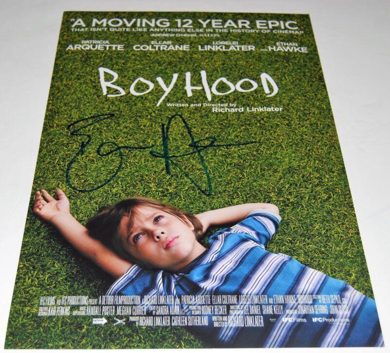 ETHAN HAWKE signed (BOYHOOD) 12X18 movie poster photo *DAD* W/COA
