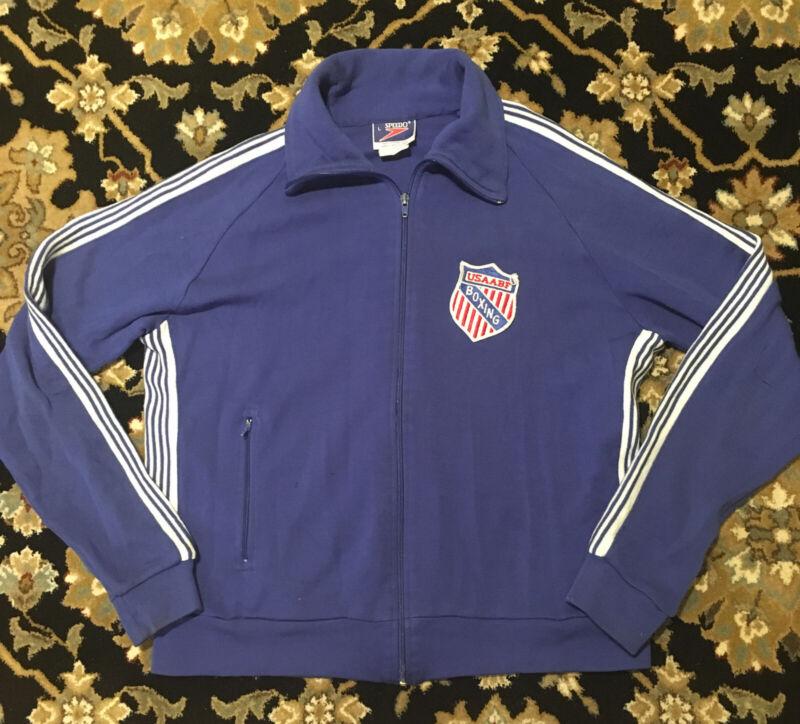 Vtg USAABF United States Amatuer Boxing Federation Patch Zip Sweatshirt Jacket