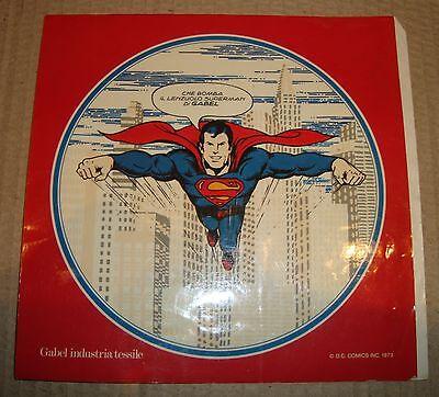 SUPERMAN ADESIVO PUBBLICITARIO GABEL INDUSTRIA TESSILE D.C.COMICS 1979