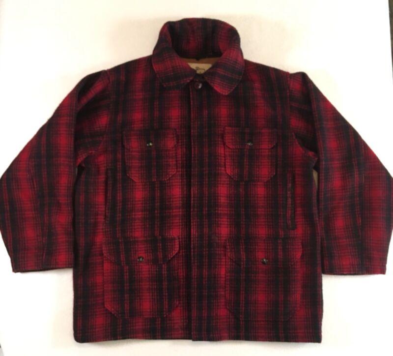 Vintage Woolrich Buffalo Plaid Mackinaw Wool Hunting Jacket Men