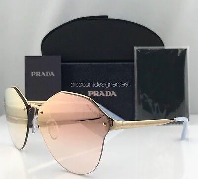 Prada Sunglasses PR 64TS Authentic Brand New Gold / Pink Mirror 7OEAD2 66mm