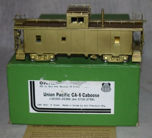 Overland Models Brass UP Union Pacific CA-6 Caboose - S Gauge in Box - 1601