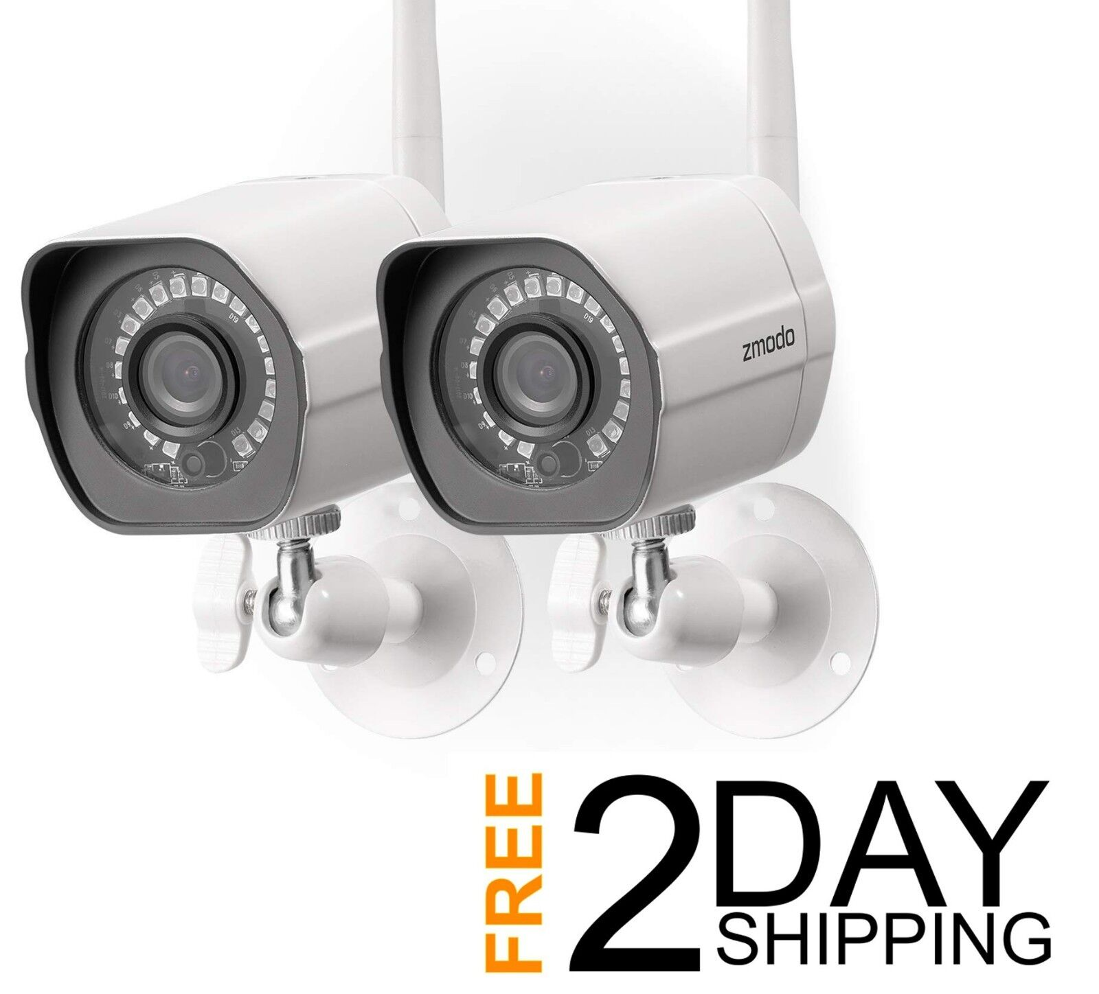 Wireless Security Camera System , Smart Home HD w/ Night Vis