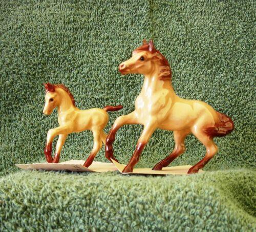 HAGEN RENAKER MINIATURE HORSE BUCKSKIN MARE AND COLT 2 PIECES