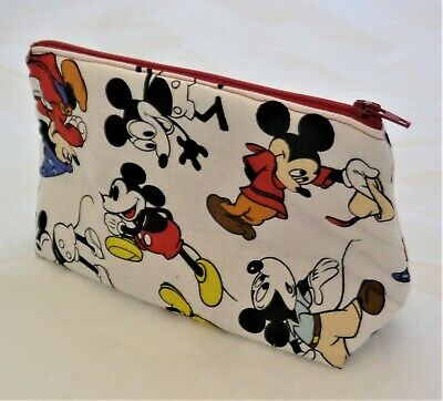 Mickey Mouse Makeup (Handmade Cosmetic Make-up Travel Bag Mickey Mouse Stocking Stuffer)