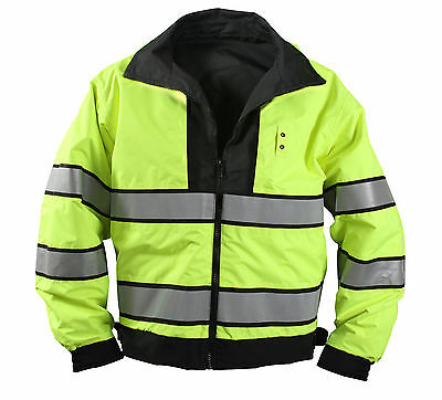 uniform jacket reflective high visibility safety coat reversible rothco 8720