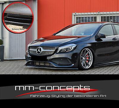 CUP Spoilerlippe SCHWARZ Mercedes A-Klasse W176 AMG MOPF Frontspoiler Schwert