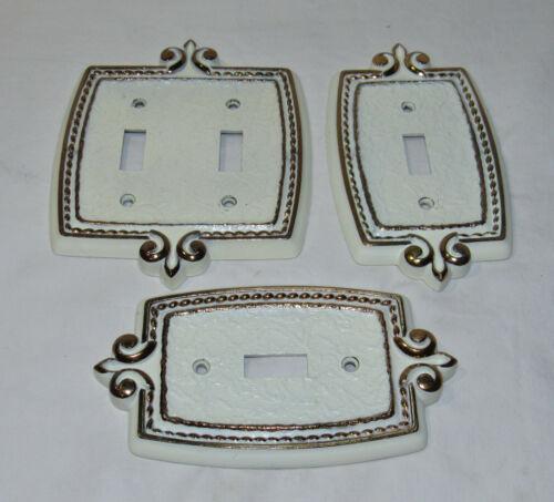 Amerock Bonaventure single Double Toggle switch plate cover Regency White.