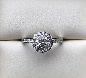 TIFFANY EMBRACE 1.5ct DIAMOND ENGAGEMENT HALO RING GIA CERTIFIED Warragul Baw Baw Area Preview