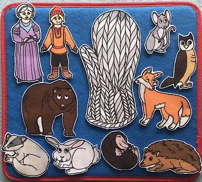 The Mitten Felt / Flannel Board Set.  Preschool Teachers. Daycare. - Felt Boards