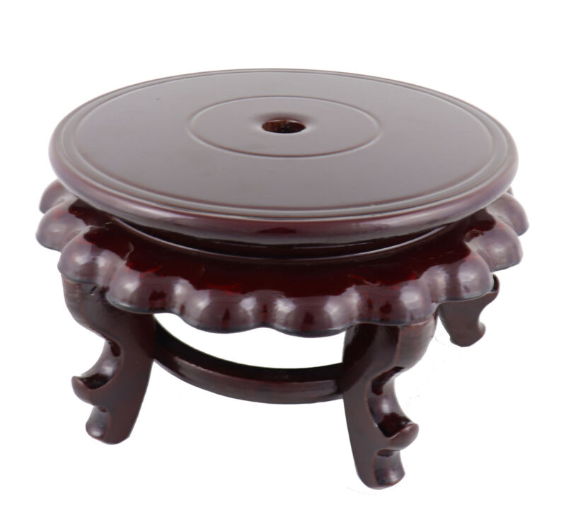 """10.5"""" Flat Surface Oriental Style High Curly Legged Fishbowl Stand"""