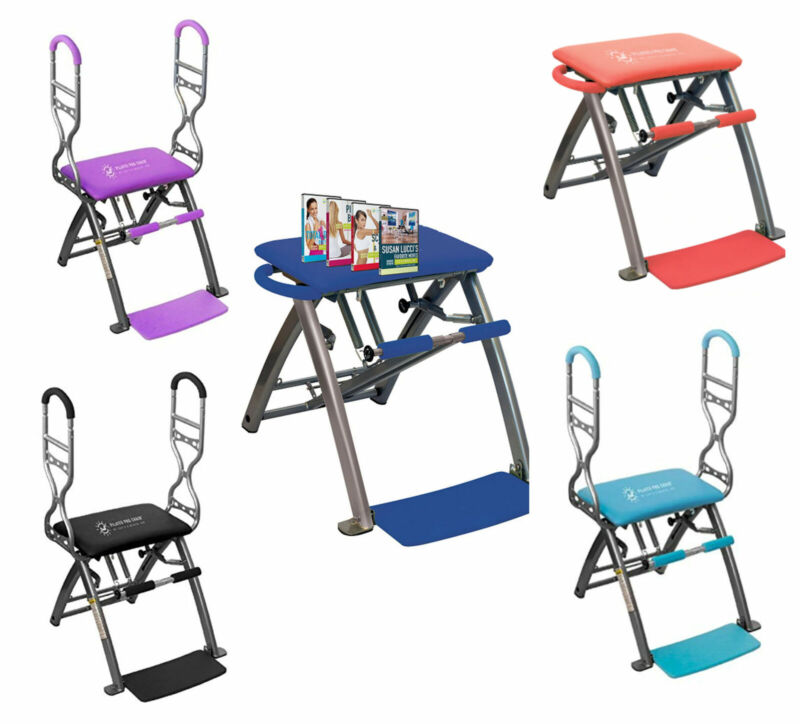 NEW, Pilates PRO Chair with Sculpting Handles and Workout DVDs by Life