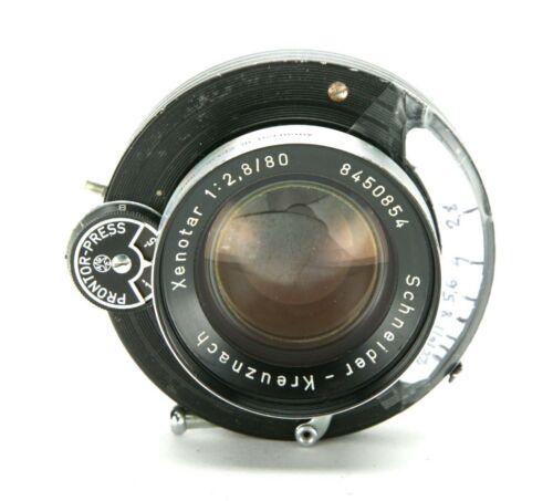 Very Rare Schneider Xenotar Lens 2.8/80mm In Prontor-Press Shutter F/6x9 Cameras