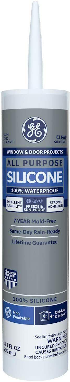 GE Sealants GE012A Silicone Clear 1 All Purpose Sealant Caul