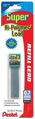 Pentel Super Hi-polymer Lead 0.7 Mm Hb Tube Of 30 Leads
