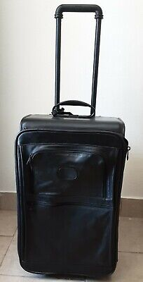 Tumi Leather Wheeled Casé Travel  Luggage Carry On 22""