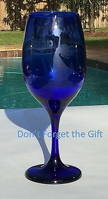 Miriam's Blue Wine Cup / Glass - Passover - Pesach - Judaica- Jewish