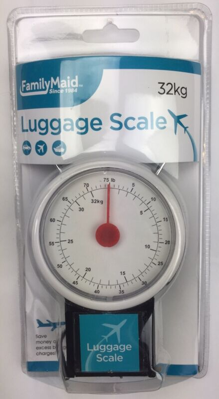 Compact Portable Luggage Scale Tape Measure 75 Lb Hanging Travel Weight Suitcase