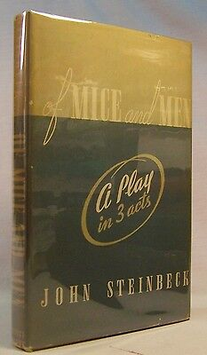 John Steinbeck Of Mice And Men  Play First Edition 1937 Nice Hardcover In Dj