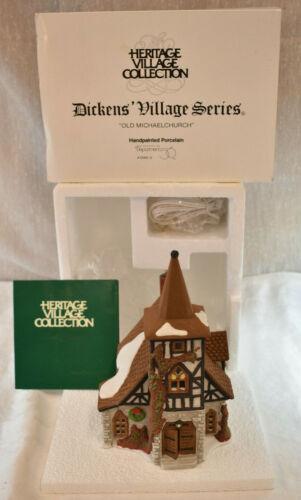 Dept 56 Dickens Village Series Old Michael Church 5562-0  Box Christmas 1992