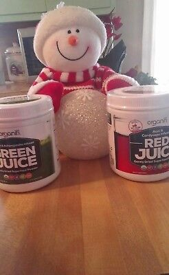 Organifi Compo one GREEN and one RED JUICE Super Food Powd Priority Shipping