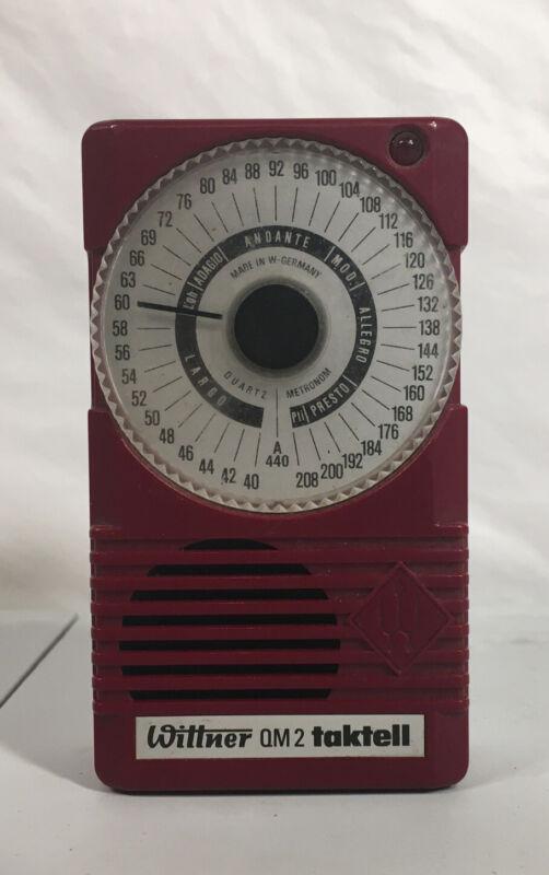 Wittner QM2 Taktell Pocket Metronome With Light Red Plastic No Ear Plug