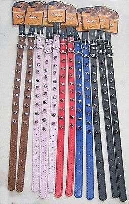 "LOT of 12 - 18"" Spiked Dog Collars"