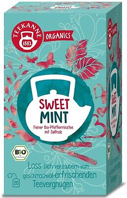 (100g=11,63€) Teekanne Organics Sweet Mint - Bio Pfefferminz Süßholz Tee - 20er