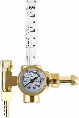 Argon Co2 Mig Tig Flow Meter Regulator Gauge Welding Flowmeter Cga580 0-3500psi