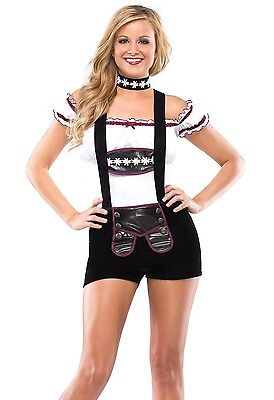 Womens Beer Girl Costume Bar Maid Oktoberfest Octoberfest Fancy Dress Halloween