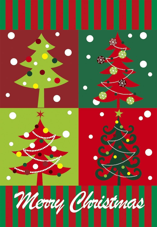 Morigins Merry Christmas Tree Home Decorative Flag Winter Ya