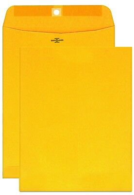 10x13 Brown Kraft Manila Envelopes 12 Count Clasp Gummed 28 Lb Mailer Shipping