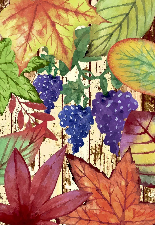 Morigins Colorful Fallen Leaves Autumn Grape Decorative Gard