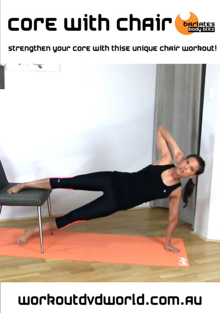 Pilates Fusion Abs EXERCISE DVD - Barlates Body Blitz CORE WITH CHAIR!