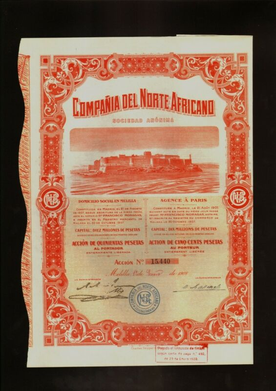 MELILLA SPAIN NORTH AFRICA : COMPANIA DEL NORTE AFRICANO 1908 Medina Sidonia