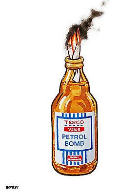 Banksy Tesco Petrol Bomb Limited Edition Framed Print