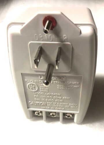 Universal UB1640W 16.5 VAC 40VA Plug-In Wall Transformer NEW!