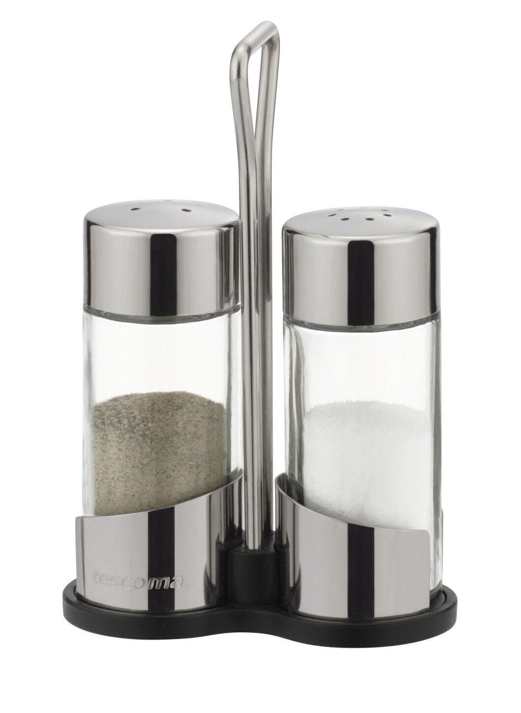 Tescoma Salz- und Pfefferstreuer Pfefferstreuer Salzstreuer Glas Edelstahl Set