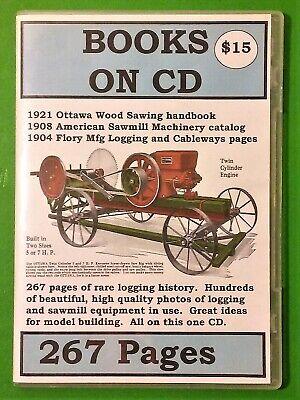 Books On Cd Vintage Logging Equipment Catalog - Ottawa Flory American Sawmill