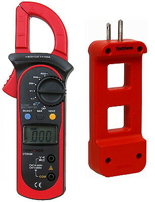 Tekpower Ut202a Acdc Voltage Ac 600 Amp Clamp Meter With Ac Line Splitter
